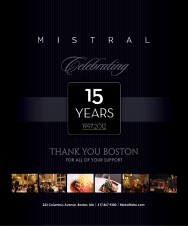 MISTRAL CELEBRATES 15 YEARS (1997-2012)